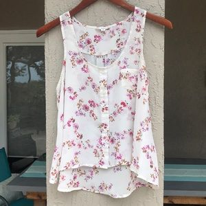 Iris Los Angeles floral sleeveless top Size medium